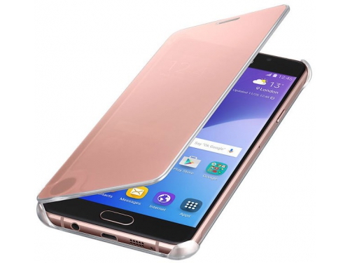 Чехол для смартфона Samsung для Samsung Galaxy A7 (2016) Clear View Cover розовое золото, вид 1