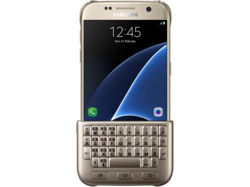 Чехол для смартфона Samsung для Samsung Galaxy S7 Keyboard Cover золотистый, вид 1