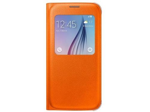 Чехол для смартфона Samsung для Samsung Galaxy S6 S View Cover оранжевый, вид 1