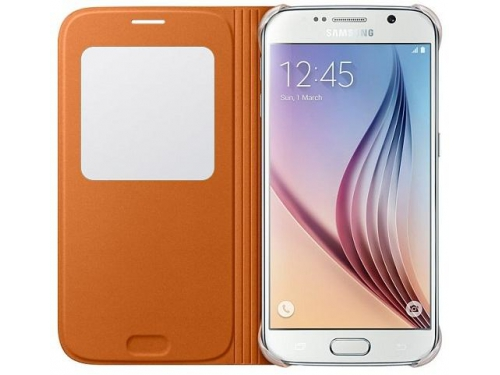 Чехол для смартфона Samsung для Samsung Galaxy S6 S View Cover оранжевый, вид 2