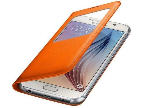 Чехол для смартфона Samsung для Samsung Galaxy S6 S View Cover оранжевый, вид 3