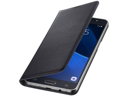 Чехол для смартфона Samsung для Samsung Galaxy J7 (2016) Flip Wallet черный, вид 3