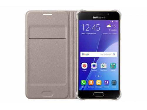 Чехол для смартфона Samsung для Samsung Galaxy A3 (2016) Flip Wallet золотистый, вид 1