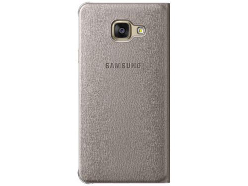 Чехол для смартфона Samsung для Samsung Galaxy A3 (2016) Flip Wallet золотистый, вид 2