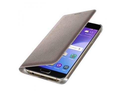 Чехол для смартфона Samsung для Samsung Galaxy A3 (2016) Flip Wallet золотистый, вид 3