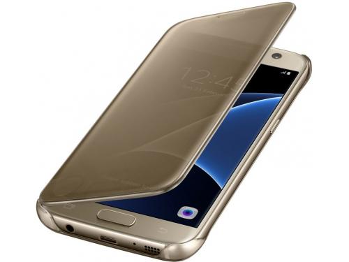 Чехол для смартфона Samsung для Samsung Galaxy S7 Clear View Cover золотистый, вид 2