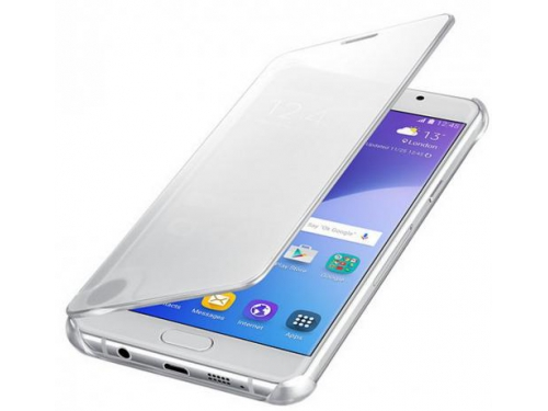 Чехол для смартфона Samsung для Samsung Galaxy A7 (2016) Clear View Cover серебристый, вид 2