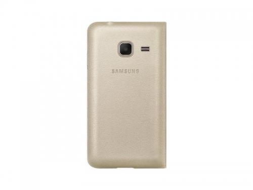 Чехол для смартфона Samsung для Samsung Galaxy J1 mini Flip Cover, золотистый, вид 2