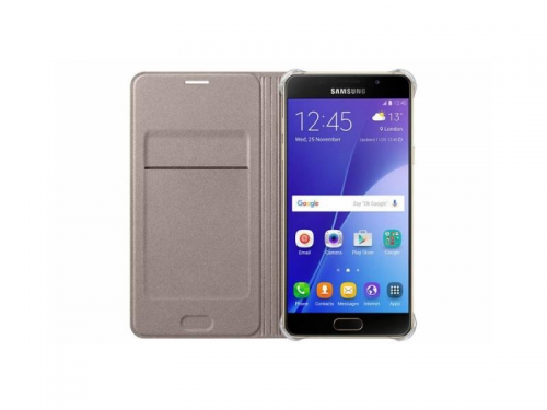 Чехол для смартфона Samsung для Samsung Galaxy A5 (2016) Flip Wallet, золотистый, вид 1