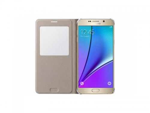 Чехол для смартфона Samsung для Samsung Galaxy Note 5 S View, золотистый, вид 2