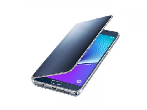 Чехол для смартфона Samsung для Samsung Galaxy Note 5 Clear View Cover черный/прозрачный, вид 4