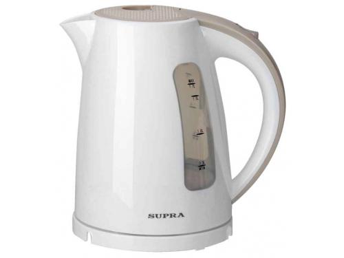 Чайник электрический Supra KES-1726, белая / бежевая, вид 1