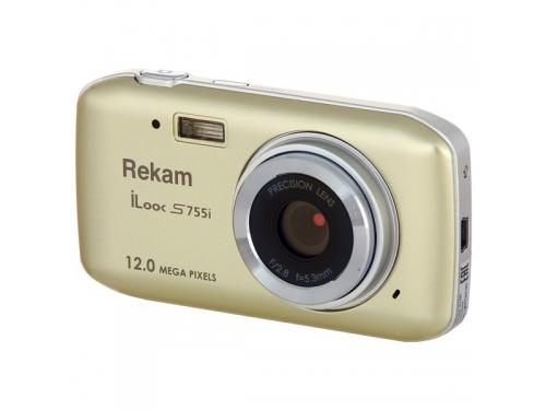 Цифровой фотоаппарат Rekam iLook S755i, бежевый, вид 3