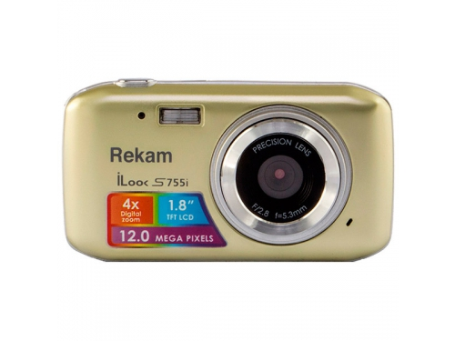 Цифровой фотоаппарат Rekam iLook S755i, бежевый, вид 1