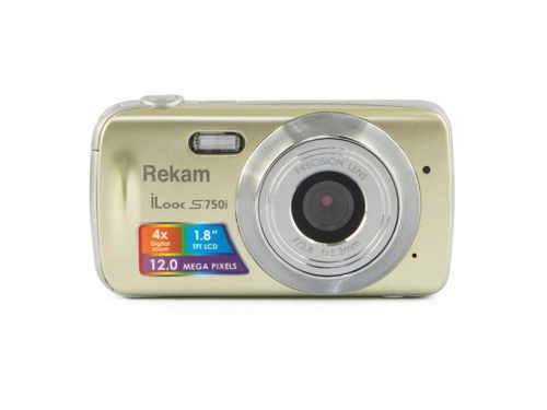 Цифровой фотоаппарат Rekam iLook S750i, золотистый, вид 1