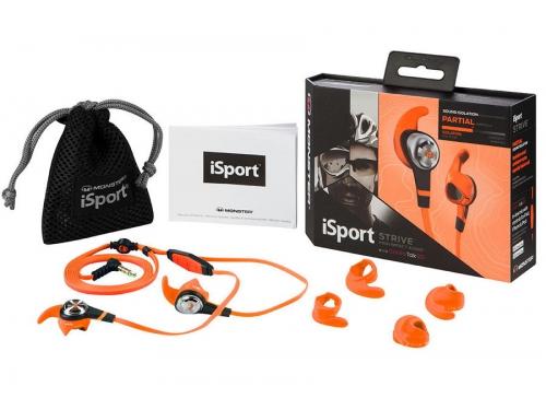 Гарнитура для телефона Monster iSport Strive UCT3, оранжевая, вид 5