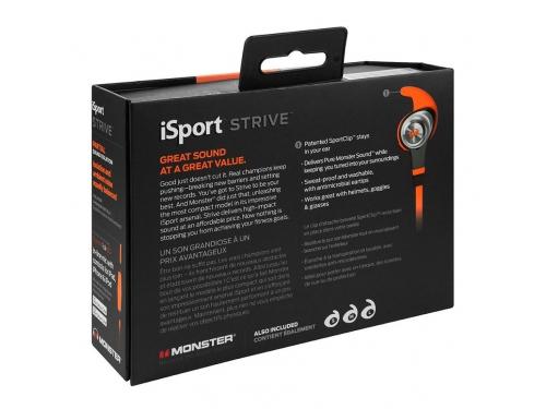 Гарнитура для телефона Monster iSport Strive UCT3, оранжевая, вид 7