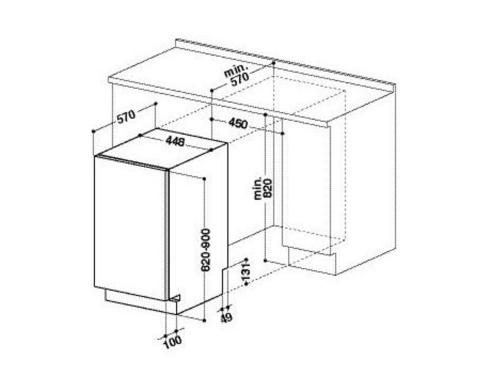 Посудомоечная машина Whirlpool ADG 221 белая, вид 2