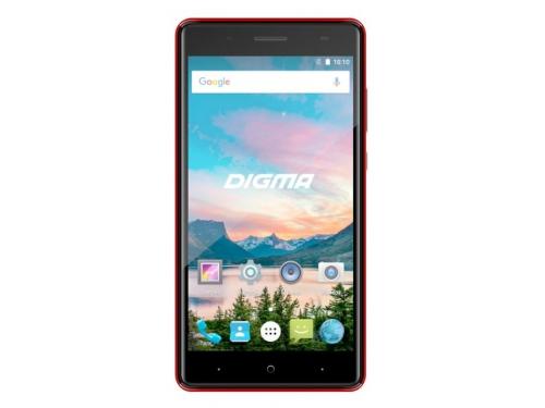 Смартфон Digma HIT Q500 3G 1/8Gb, красный, вид 1