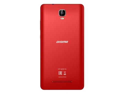 Смартфон Digma HIT Q500 3G 1/8Gb, красный, вид 2