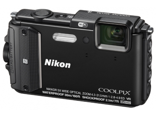 Цифровой фотоаппарат Nikon Coolpix AW130, черный, вид 1