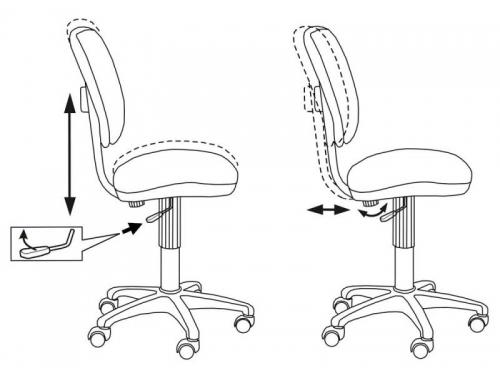 Компьютерное кресло Бюрократ CH-204NX/26-291, оранжевый, вид 2