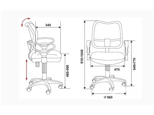 Компьютерное кресло Бюрократ CH-799SL/TW-11, вид 3