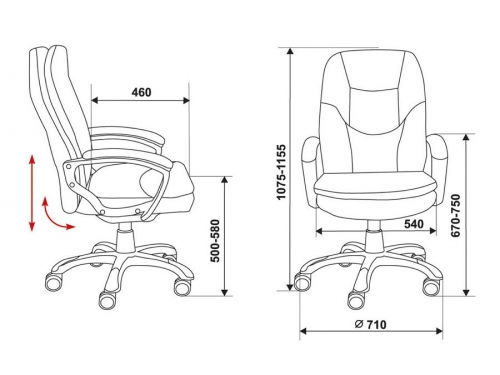 Компьютерное кресло Бюрократ CH-868AXSN/Black, вид 3