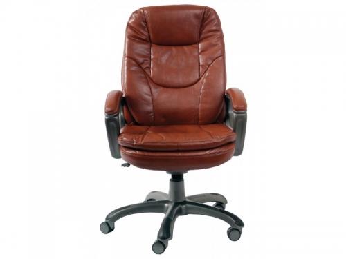 Компьютерное кресло Бюрократ CH-868AXSN/Brown искусственная кожа (пластик темно-серый), вид 1