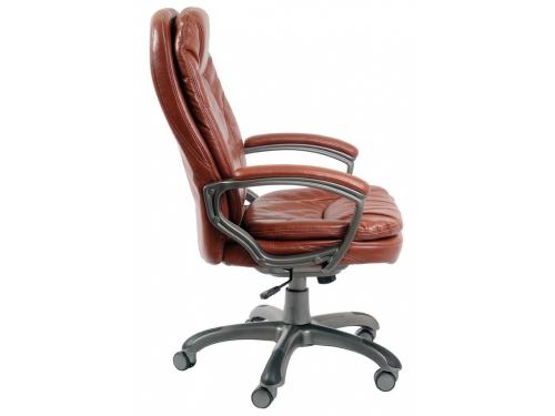 Компьютерное кресло Бюрократ CH-868AXSN/Brown искусственная кожа (пластик темно-серый), вид 2