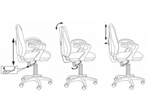 Компьютерное кресло Бюрократ CH-513AXN/JP-15-6, бордовый, вид 3