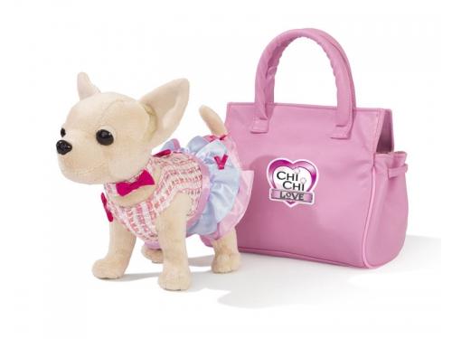 Игрушка мягкая Simba собачка Чихуахуа в платье (с сумкой), вид 2