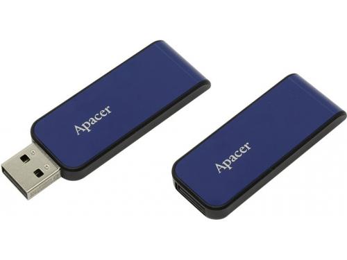 Usb-флешка Apacer AH334 32Gb, синяя, вид 1