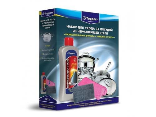 Бытовое хим. средство Topper для чистки и ухода за посудой из нержавеющей стали, вид 1