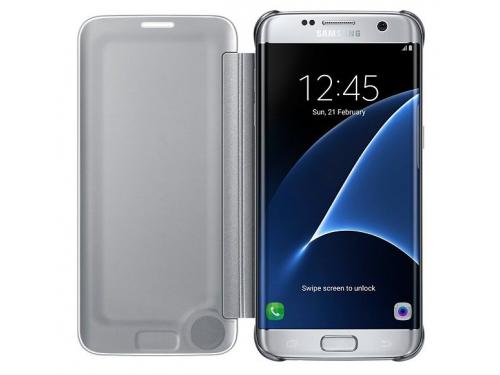 Чехол для смартфона Samsung для Samsung Galaxy S7 edge Clear View Cover silver, вид 2