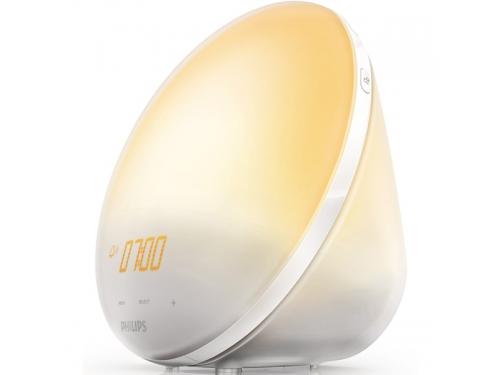 Часы интерьерные Philips Wake-Up Light HF3520/70, радиобудильник, со звуками природы и световой имитацией рассвета и заката, вид 1