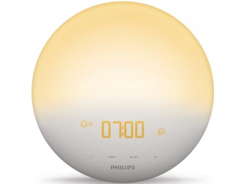 Часы интерьерные Philips Wake-Up Light HF3520/70, радиобудильник, со звуками природы и световой имитацией рассвета и заката, вид 2