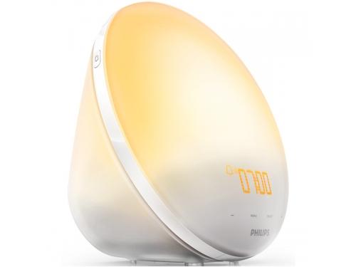 Часы интерьерные Philips Wake-Up Light HF3520/70, радиобудильник, со звуками природы и световой имитацией рассвета и заката, вид 3