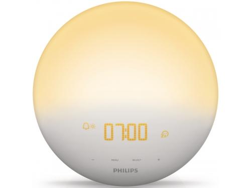 Радиоприемник Радио-будильник Philips Wake-Up Light HF3510/70, со звуками природы и световой имитацией рассвета и заката, вид 2