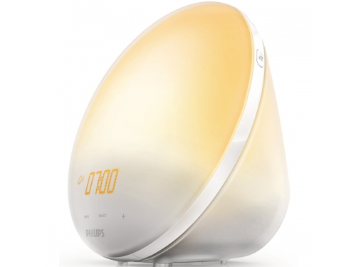 Радиоприемник Радио-будильник Philips Wake-Up Light HF3510/70, со звуками природы и световой имитацией рассвета и заката, вид 3