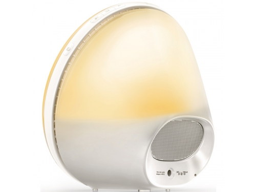 Радиоприемник Радио-будильник Philips Wake-Up Light HF3510/70, со звуками природы и световой имитацией рассвета и заката, вид 5