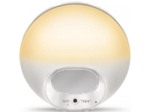 Радиоприемник Радио-будильник Philips Wake-Up Light HF3510/70, со звуками природы и световой имитацией рассвета и заката, вид 6