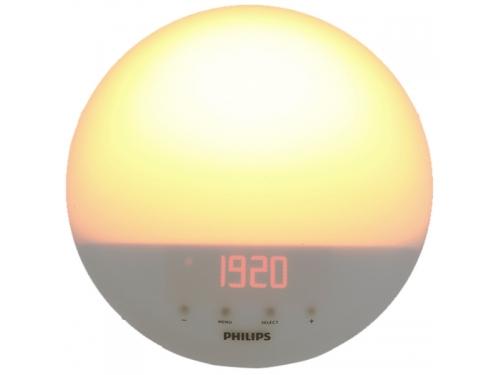 Радиоприемник Радио-будильник Philips Wake-Up Light HF3510/70, со звуками природы и световой имитацией рассвета и заката, вид 8