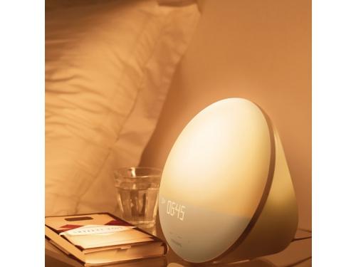 Радиоприемник Радио-будильник Philips Wake-Up Light HF3510/70, со звуками природы и световой имитацией рассвета и заката, вид 10