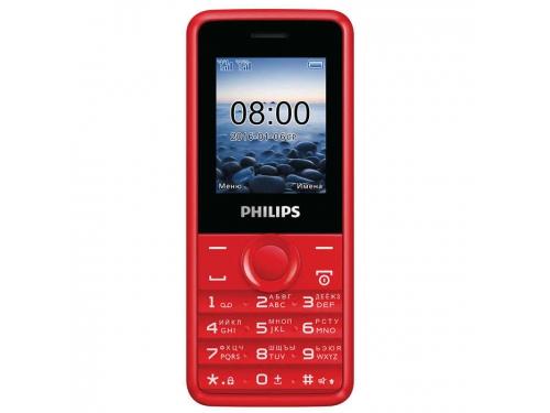 Сотовый телефон Philips E103, красный, вид 1