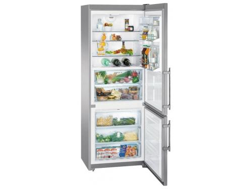 Холодильник Liebherr CBNPes 5156 серебристый, вид 2