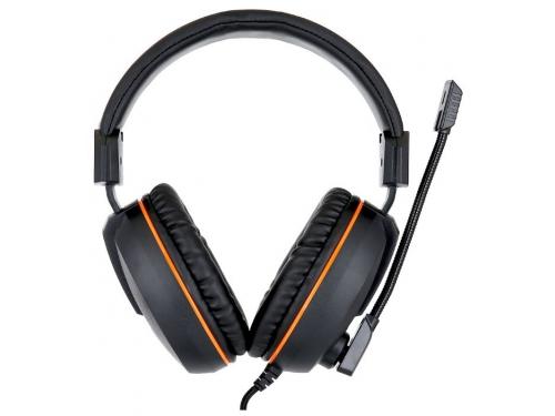 Гарнитура для ПК Gembird MHS-G100, черно-оранжевая, вид 1