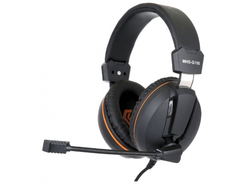 Гарнитура для ПК Gembird MHS-G100, черно-оранжевая, вид 2