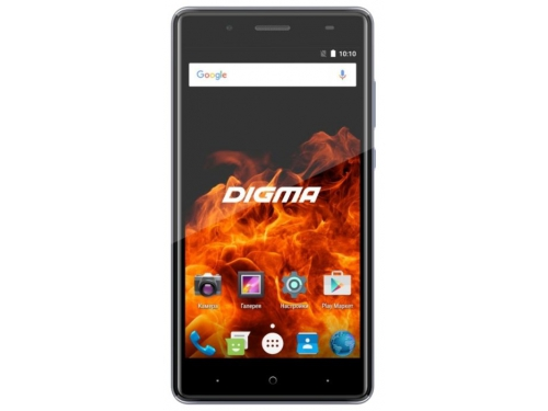 Смартфон Digma Vox Fire 4G 1/8Gb, серый, вид 1