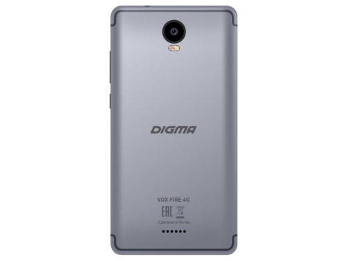 Смартфон Digma Vox Fire 4G 1/8Gb, серый, вид 2
